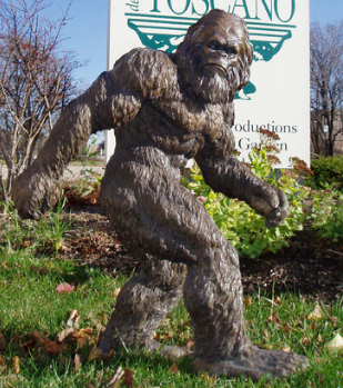 BIGFOOT GARDEN STATUES. This 28 1/2u2033 High Hand Painted Statue Would Make A  Lovely Addition To Anyoneu0027s Backyard. But Why Hide Him In The Back?