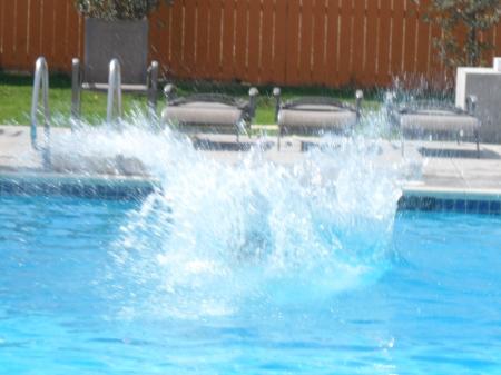 Pool Splash Cannonball On Uncle Davidu0027s Cannonball Splash High Dive Keep It Up David