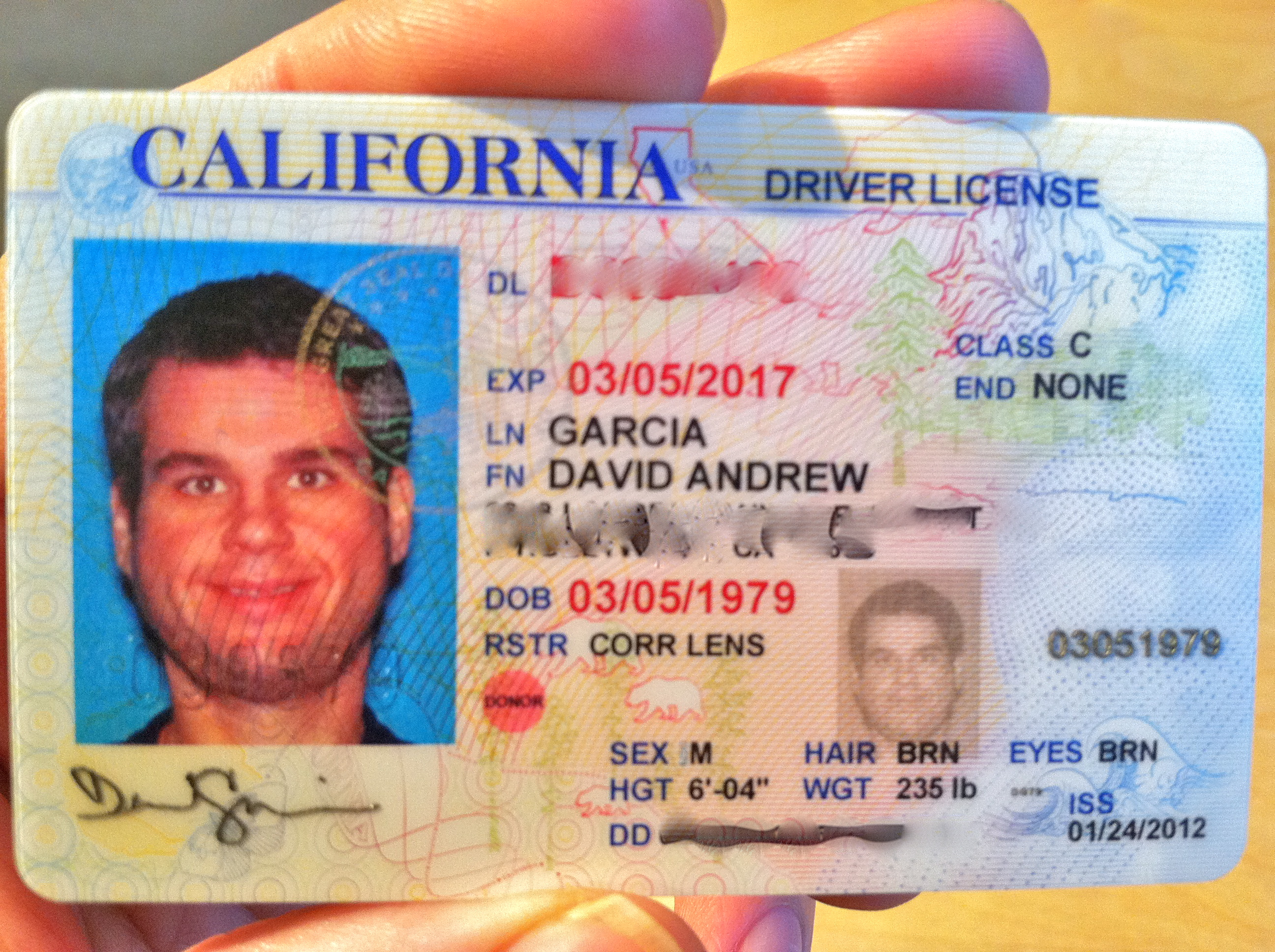 Yes! My New Driver License Photo! | Keep It Up, David!
