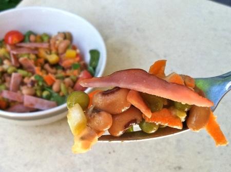 blackeyed-peas-bacon-salad-fork