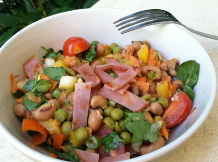 blackeyed-peas-bacon-salad