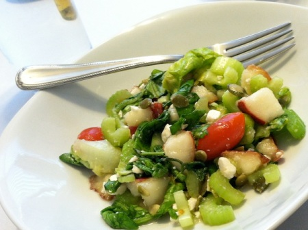 Marinated-Celery-And-Pear-Salad