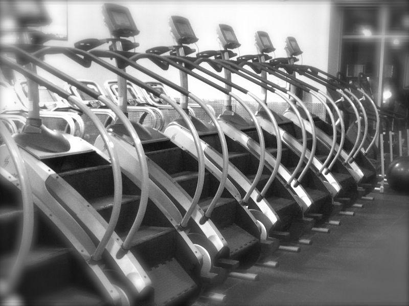 Row Of Stairmasters Treadmills Gym Cardio Equipment