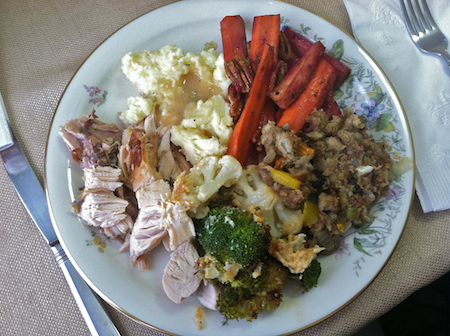 My Thanksgiving plate from last year.