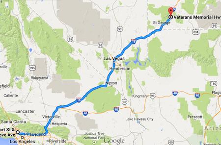 LA to Utah