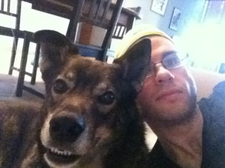 David-jimi-dog-selfie