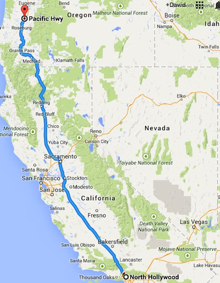 map-north-hollywood-to-oregon