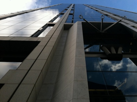 One-America-Plaza-Looking-Up-From-Street