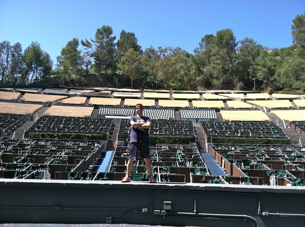 Climbing stairs at the hollywood bowl keep it up david for Hollywood bowl terrace 5