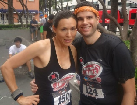Me and Cindy, who finished 3rd overall in the sprint.