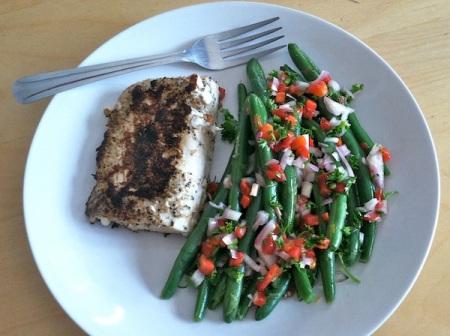 Fish-and-Easy-Green-Bean-Salad