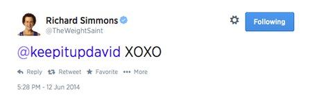 Richard Simmons Tweet
