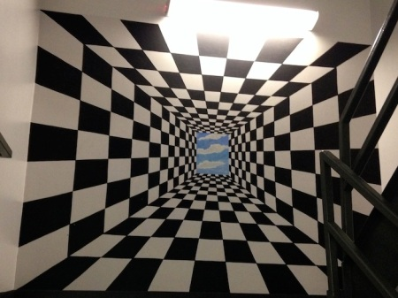 Checkerboard-Mural-Wells-Fargo-Center