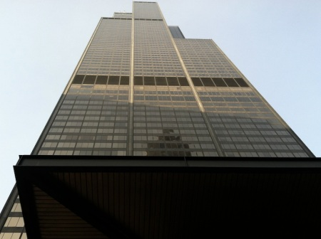 Looking-up-Willis-Tower