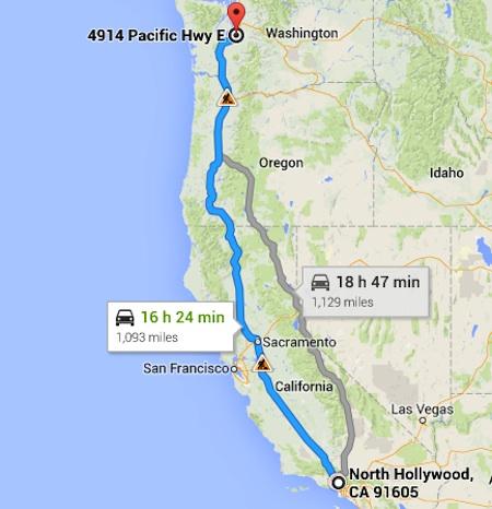 North-Hollywood-Tacoma-Map