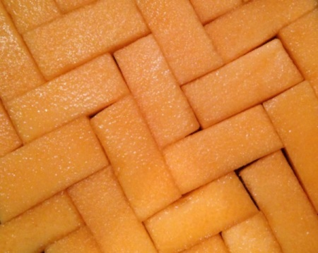 Cantaloupe Herringbone