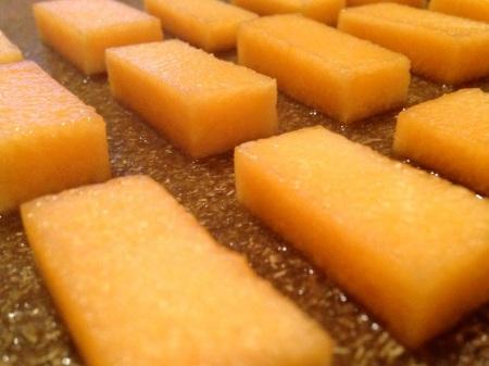 Cantaloupe-Planks-Close-Up