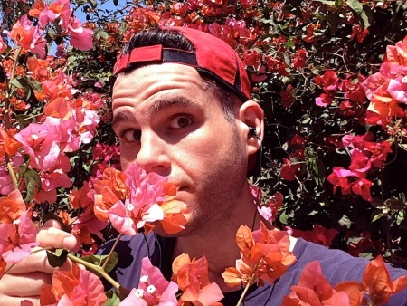 david-sniffing-flowers