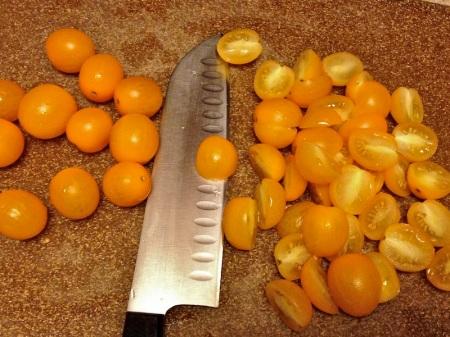 halved-yellow-cherry-tomatoes