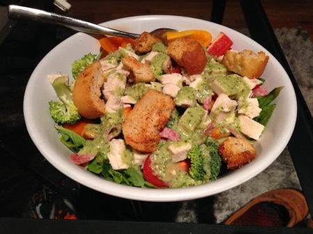Salad-Croutons-Chicken