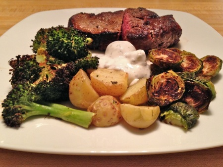 roasted-potatoes-broccoli-brussels-sprouts-steak