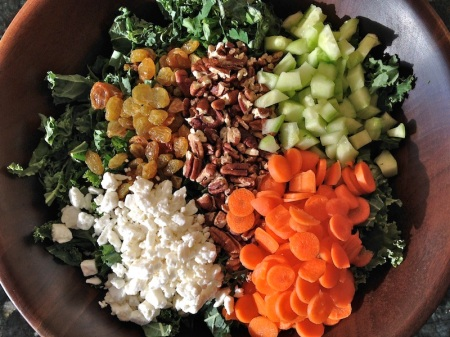 feta-raisins-cucumber-carrots-pecans-on-salad