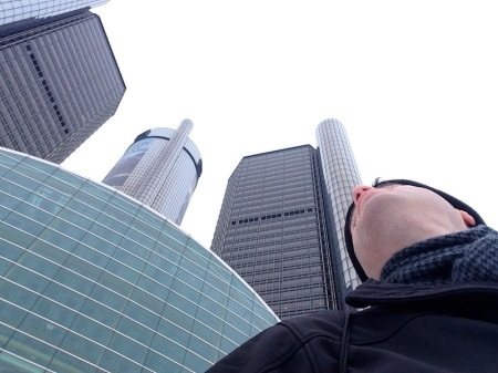 david-looking-up-renaissance-center