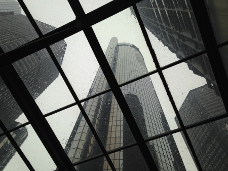 marriott-tower-through-skylight-renaissance-center