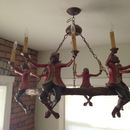 Monkey-chandelier