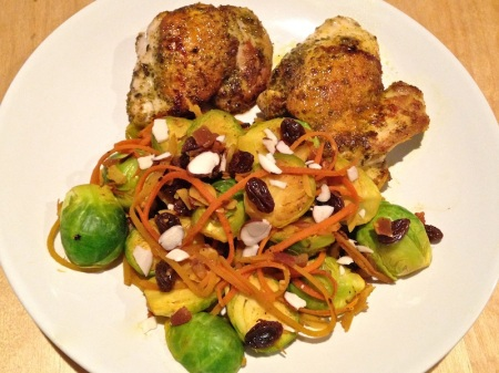 brussels-sprouts-carrots-raisins