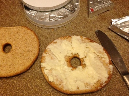 cheese-smeared-on-bagel-thin