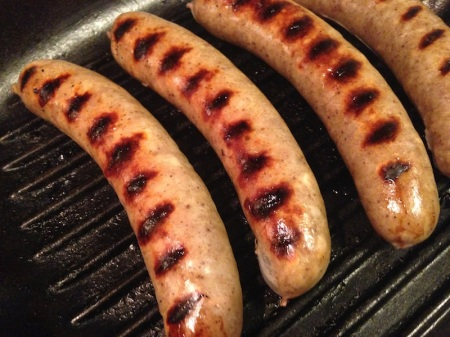 how to cook sausages on george foreman