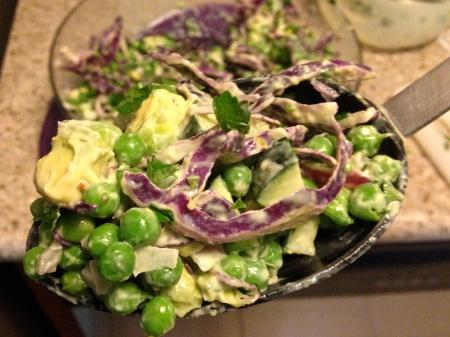 pea-salad-on-spoon