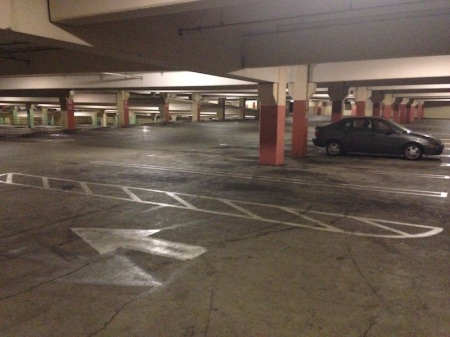 Lonely-car-parking-garage