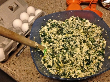 spinach-egg-casserole-mixture