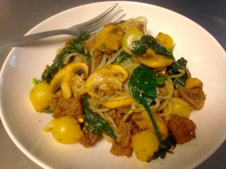 beef-mushroom-spinach-skillet-meal
