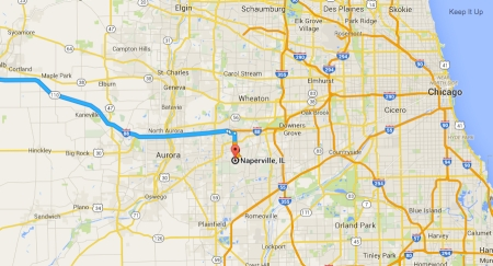 Close-up-Naperville-Chicago-Map