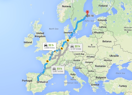 Madrid-to-Sweden-Map