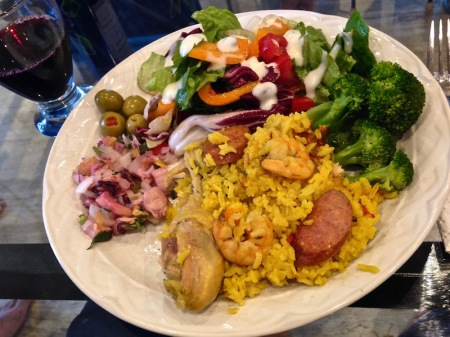 paella-broccoli-plate-christmas-meal