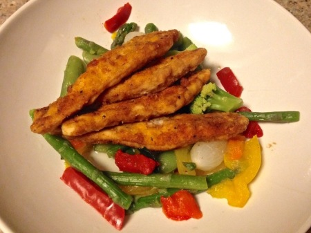 Lunch: Zesty tenders with Venice vegetable blend
