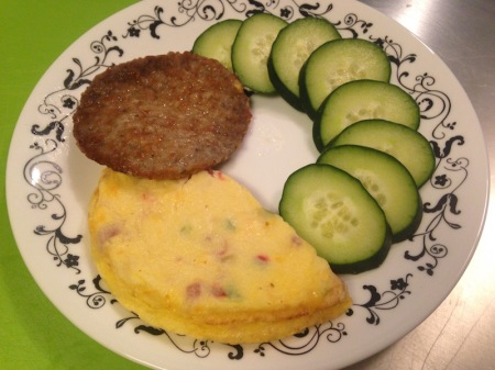 frittata-sausage-patty-personal-trainer-food