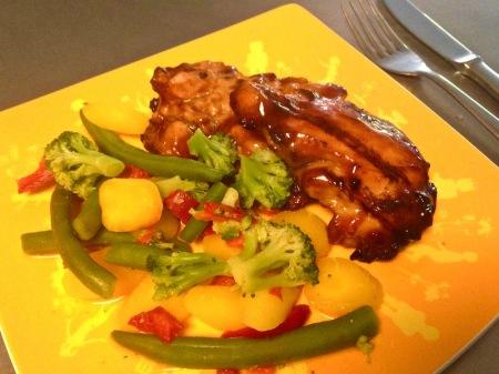 Teriyaki Chicken with Caribbean Veggie Blend