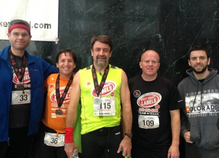 Me, Jerry, Steve, Brad, and Brady (who finished 2nd among the 650 people who did the one-time climb)