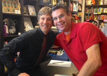 Randy and me and Randy's book signing last spring.