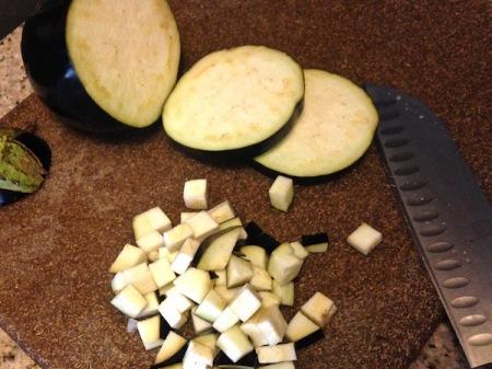 chopped-eggplant
