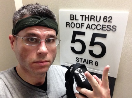 We start on the 4th floor - that's why it's a 51-story climb, and not a 55-story climb!
