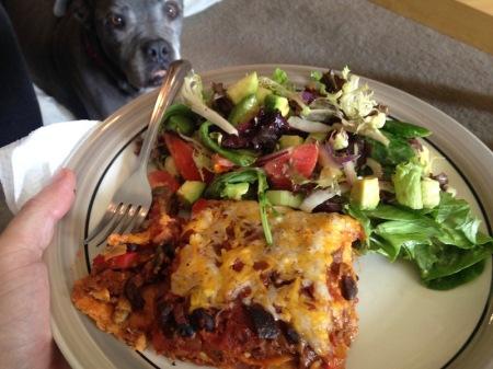 vegetarian-mexican-casserole-salad-plate-maude