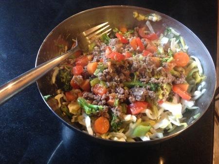 broccoli-beef-over-jicama-mango-slaw