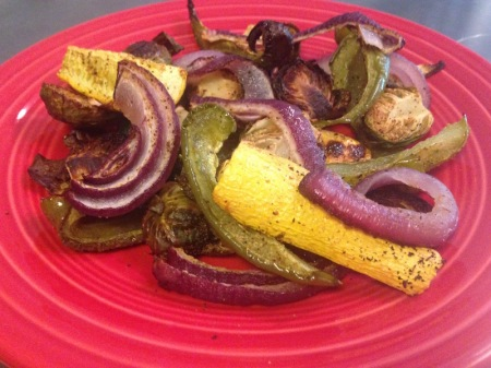 roasted-vegetables-on-red-plate