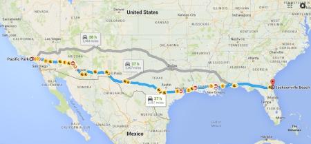 Coast-to-coast-map